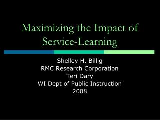 Maximizing the Impact of Service-Learning