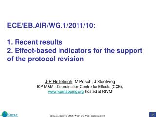 ECE/EB.AIR/WG.1/2011/10:  1. Recent results