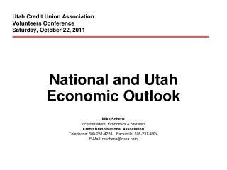 Utah Credit Union Association Volunteers Conference Saturday, October 22, 2011