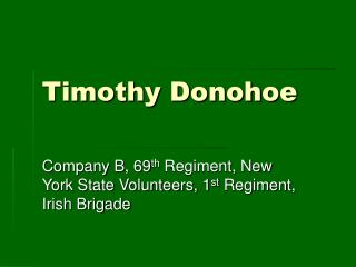 Timothy Donohoe