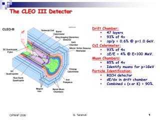 The CLEO III Detector