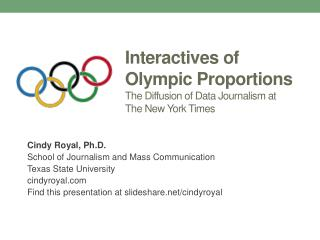 Interactives  of Olympic Proportions The Diffusion of Data Journalism at  The New York Times