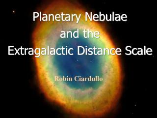 Planetary Nebulae         and the            Extragalactic Distance Scale