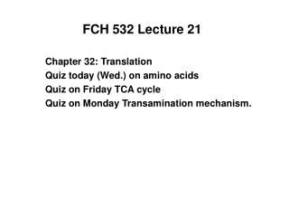 FCH 532 Lecture 21