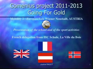 Comenius  project  2011-2013 Going  For Gold