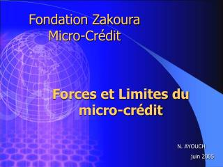 Fondation Zakoura Micro-Crédit