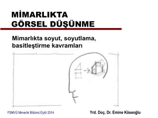 FSMVÜ Mimarlık Bölümü Eylül 2014