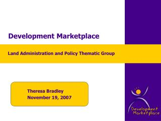 Development Marketplace