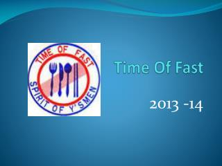 Time Of Fast