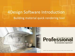4Design Building Material Rendering Software Introduction