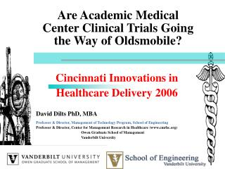 Are Academic Medical Center Clinical Trials Going the Way of Oldsmobile?