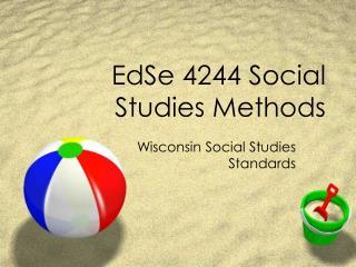 EdSe 4244 Social Studies Methods