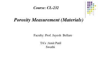 Course: CL-232