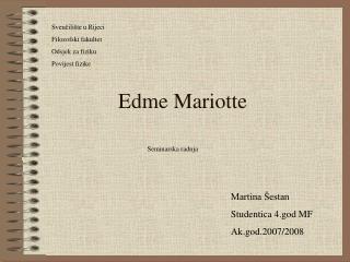 Edme Mariotte