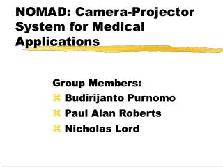 NOMAD: Camera-Projector System for Medical Applications