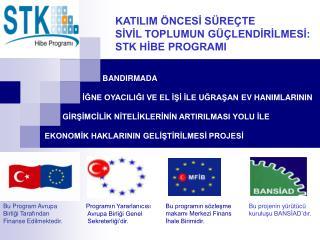 Bu Program Avrupa Birliği Tarafından Finanse Edilmektedir.