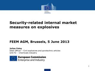 Security-related internal market measures on explosives