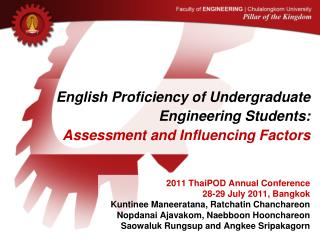 English Proficiency of Undergraduate Engineering Students:  Assessment and Influencing Factors