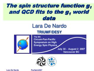 The spin structure function g 1  and QCD fits to the g 1  world data