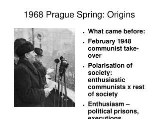 1968 Prague Spring: Origins