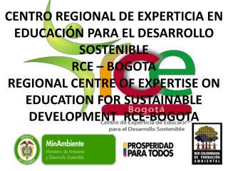 MSc. MARCO TULIO ESPINOSA L. RED COLOMBIANA DE FORMACIÓN AMBIENTAL –RCFA- BOGOTA – COLOMBIA