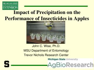 Impact of Precipitation on the Performance of Insecticides in Apples