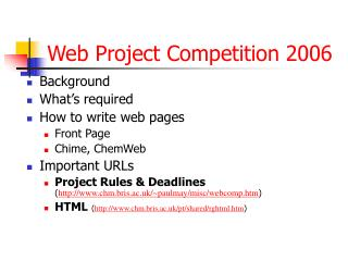 Web Project Competition 2006