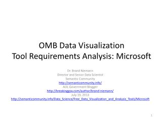 OMB Data Visualization Tool Requirements Analysis: Microsoft