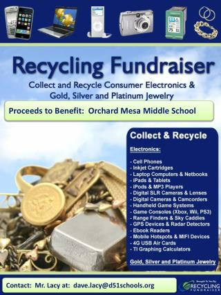 Proceeds to Benefit:  Orchard Mesa Middle School
