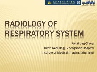 Radiology of Respiratory System