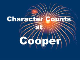Character Counts      at