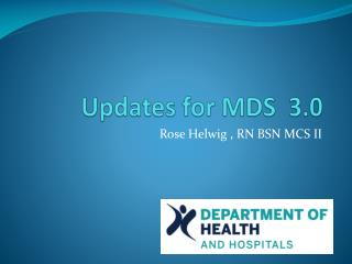 Updates for MDS  3.0