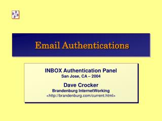 Email Authentications