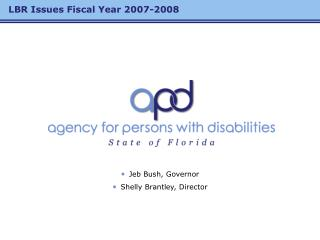 LBR Issues Fiscal Year 2007-2008