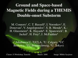 Ground and Space-based Magnetic Fields during a THEMIS Double-onset Substorm