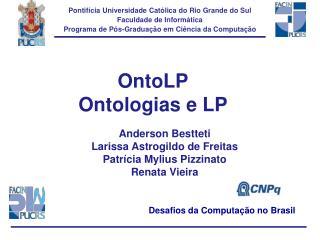 OntoLP Ontologias e LP