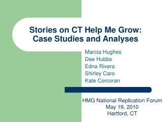 Stories on CT Help Me Grow: Case Studies and Analyses