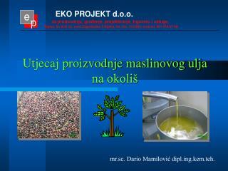 Utjecaj proizvodnje maslinovog ulja na okoli�