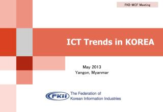 ICT Trends  in KOREA