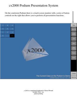 Cx2000 Podium Presentation System