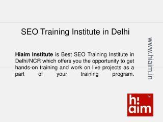 SEO Training Institute in Pitampura