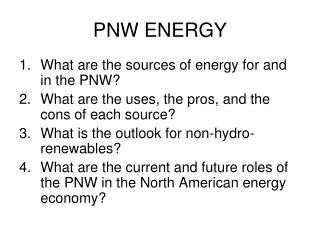 PNW ENERGY