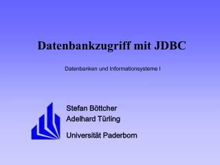 Datenbankzugriff mit JDBC