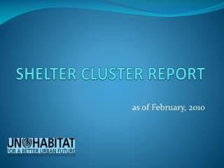 SHELTER CLUSTER REPORT