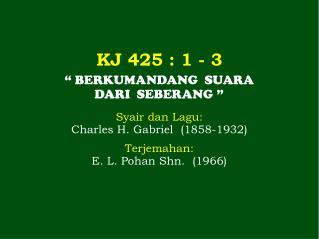 KJ 425  : 1 - 3