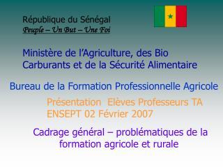 Bureau de la Formation Professionnelle Agricole