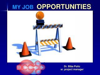 MY JOB   OPPORTUNITIES