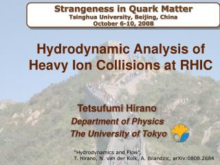Hydrodynamic Analysis of Heavy Ion Collisions at RHIC