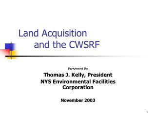 Land Acquisition and the CWSRF