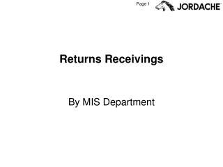 Returns Receivings
